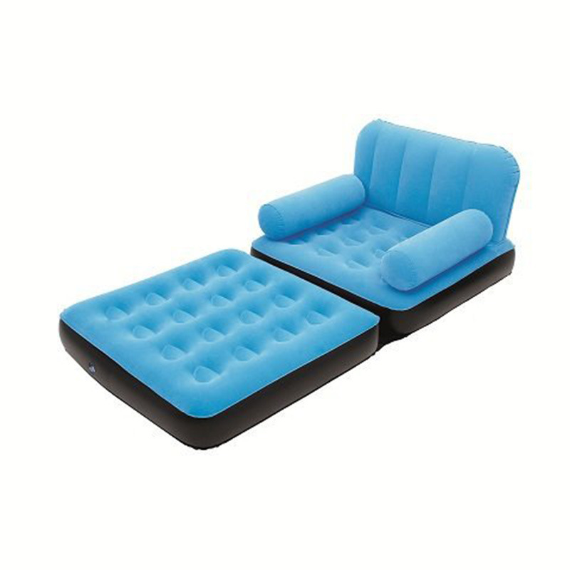 5 In 1 Outdoor Home Garden Inflatable One Seat Sofa Bed Camping Chairs Air Sofa Bed Blow UP Lounger