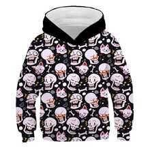 Sweat-shirt à capuche pour enfants, nouvelle collection, dessins animés, sans conte, imprimé en 3D, pour garçons et filles, automne/hiver, 2020