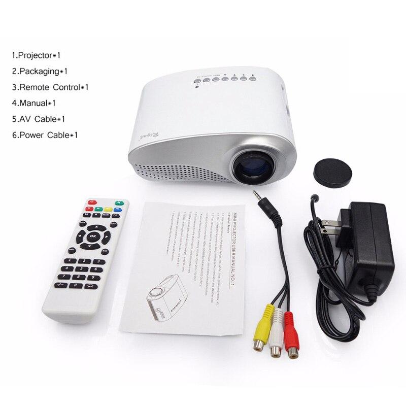 Rigal RD802 портативный мини проектор для домашнего кинотеатра светодиодный мультимедийный ЖК-проектор USB/VGA/HDMI детский мультипликационный виде...