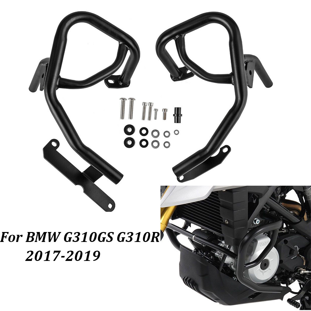 Motorcycle Lower Highway Crash Bar Engine Frame Guard Bumper Fall Protector for BMW G310GS <font><b>G310R</b></font> 2017 2018 2019 Black image