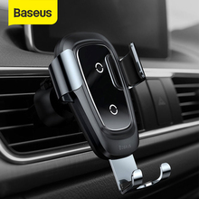 Baseus 무선 자동차 충전기 전화 홀더 아이폰 X 8 플러스 삼성 S9 S8 휴대 전화 충전기 자동차 무선 충전 홀더