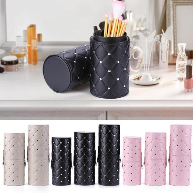Fashion Makeup Brushes Holder Case PU Leather Travel Pen Holder Storage Cosmetic Brush Bag Brushes Organizer Make Up Tools 1
