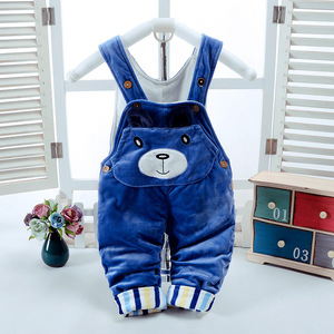 Image 4 - Winter Baby Set Boy Clothes for Newborn Thick Warm Baby Jumpsuit Overalls 2pcs Infant Clothing Sets Outfits Toddler Girl Clothes
