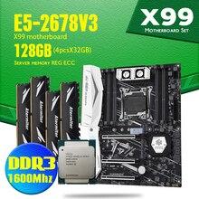 Huananzhi X99 Tf Moederbord Met Dual Slot Ondersteuning Zowel DDR3 En DDR4 LGA2011 3 En Intel Xeon E5 2678 V3 128gb 4X 32Gb 1600Mhz