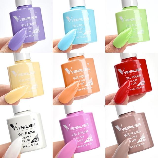 Venalisa 7.5ml Gel Nail Polish Canni Nail Supply Wholesale Soak Off UV LED Gel Lacquer Nail Art Glitter Polish Long Lasting Gel 5