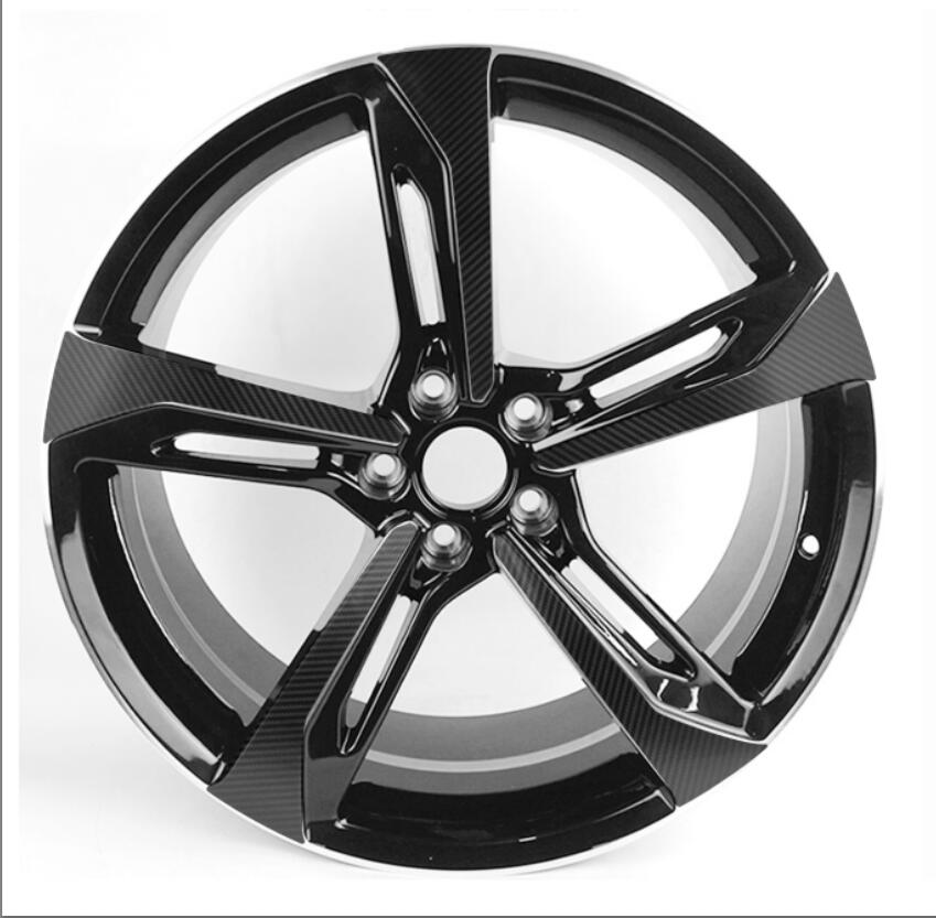 3D Carbon/ Matte/ Glossy Black Wheel Stickers For VW AUDI Q7 RS7 18
