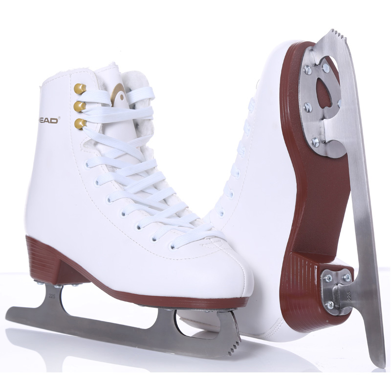 2020 Winter Adult Professional Thermal Fleece Warm Thicken Ice Figure Skates Shoes With Ice Blade PU Waterproof Ice Skating