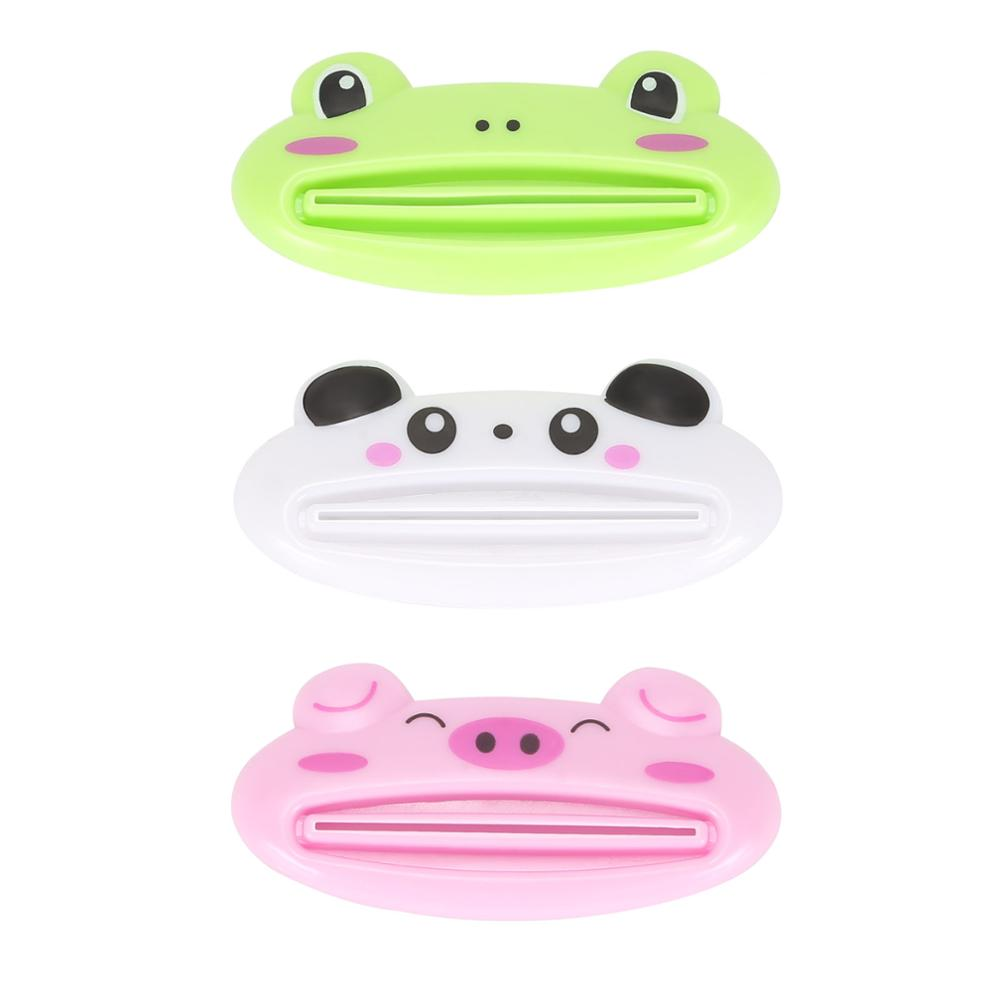 1PCS Animal Easy Toothpaste Dispenser Plastic Tooth Paste Tube Squeezer Useful Mini Toothpaste Rolling Holder For Home Bathroom