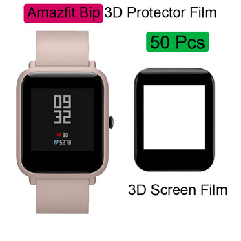 For Xiaomi Huami Amazfit Bip Protector Bracelet Screen Film LCD Full HD 3D Full Screen Coverage Protective Films 50Pcs protective pc clear screen films w cleaning cloth for xiaomi mione 1s transparent 6 pcs