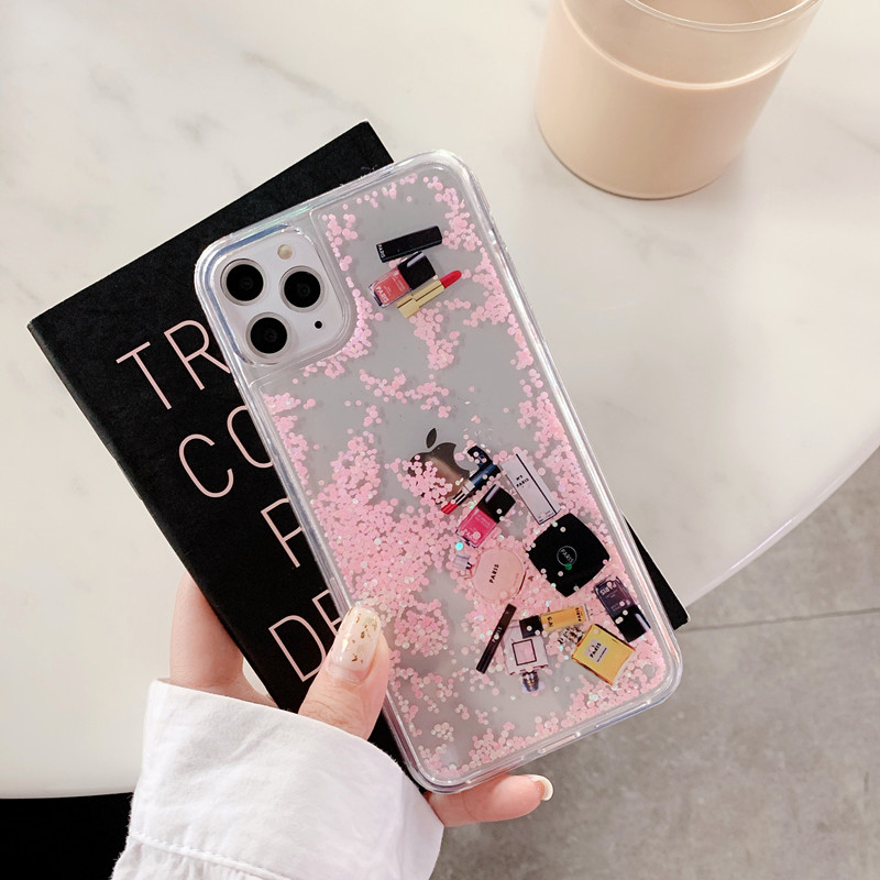 For iphone 11 pro MAX case Cosmetic Makeups Perfume Quicksand Glitter Phone Case For iPhone 6 6S 7 8 Plus X XR XS MAX case Cover|Fitted Cases| - AliExpress