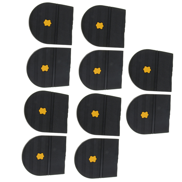 5 Pairs Rubber Heels Glue On Shoe Sole Repair Pad Replacement for Mens and Womens Shoe Heel Protector 6mm Thick Shoe Accessories