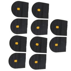 Image 1 - 5 paires talons en caoutchouc colle sur la semelle de chaussure réparation coussinet de remplacement pour hommes et femmes chaussure talon protecteur 6mm épais chaussures accessoires
