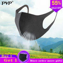 PVP 3 Pcs Black Mouth Mask Breathable Unisex Sponge Face Reusable Anti Pollution Shield Wind Proof Cover