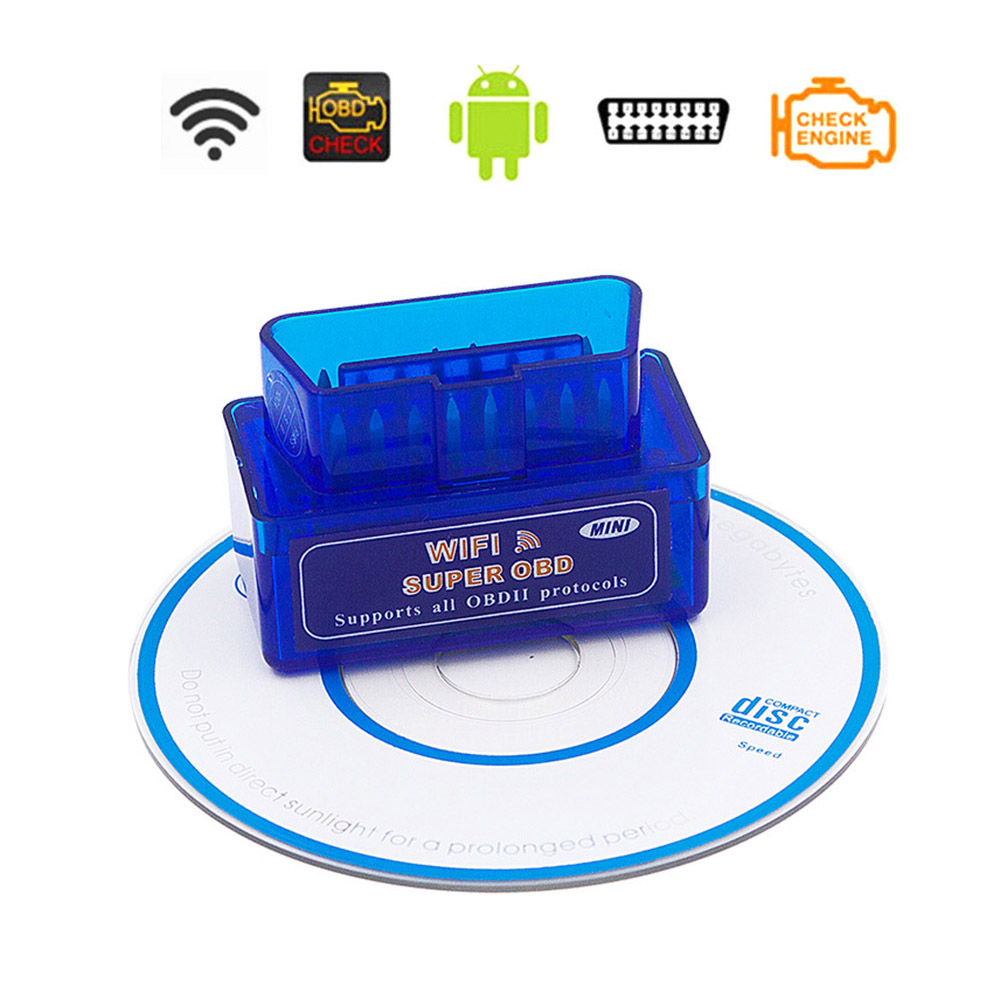 Super Mini V <font><b>1.5</b></font> ELM327 OBD2 Wifi Scanner For Audi A1 A2 A3 A4 A5 A6 A7 A8 B5 B6 B7 Q3 Q5 RS4 S5 S4 OBD <font><b>2</b></font> II Car Diagnostic Tool image