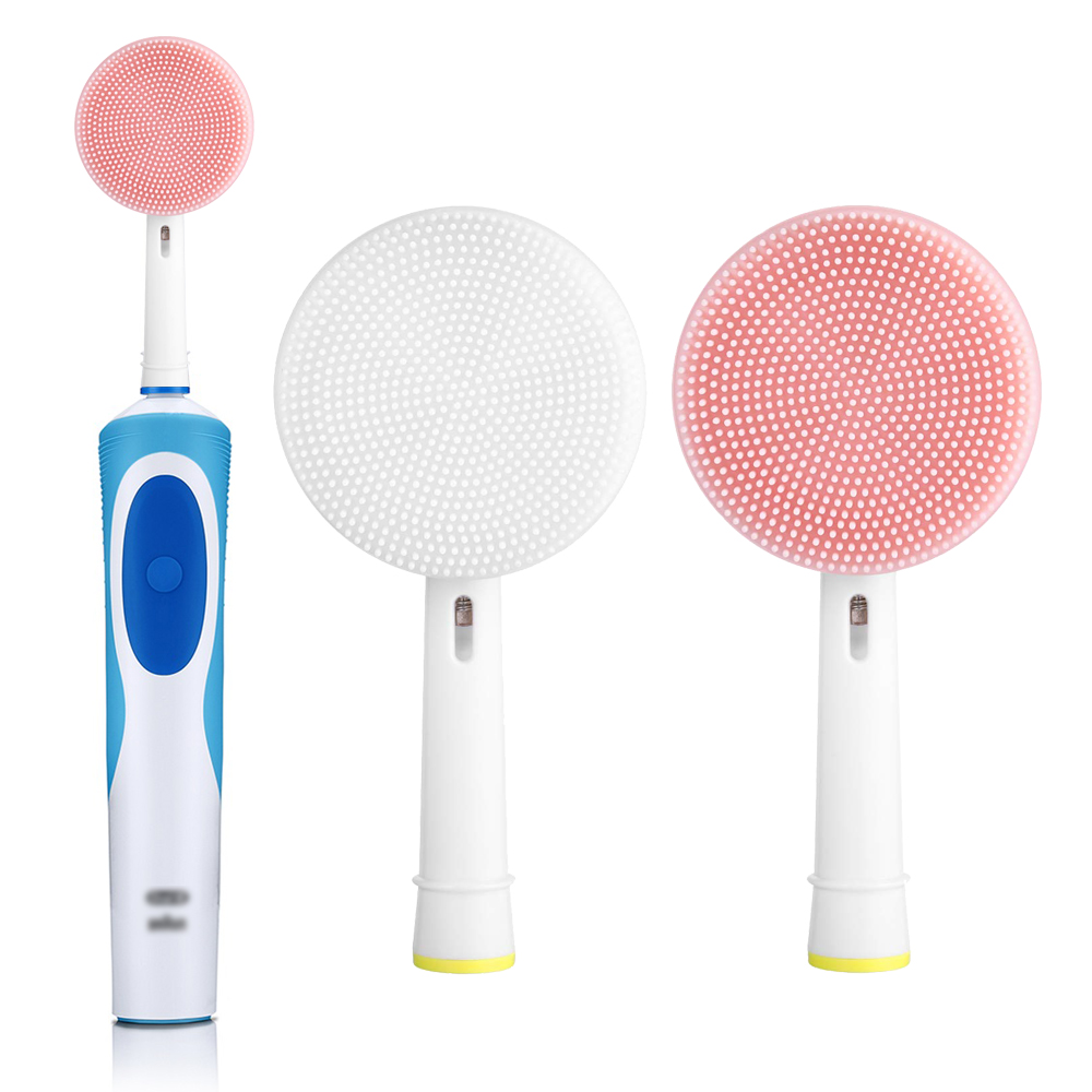 Facial Brush Head For Braun Oral b Vitality Triumph D12 D16 D20 D34 Electric Toothbrush Head Silicone Facial Cleansing Brush image