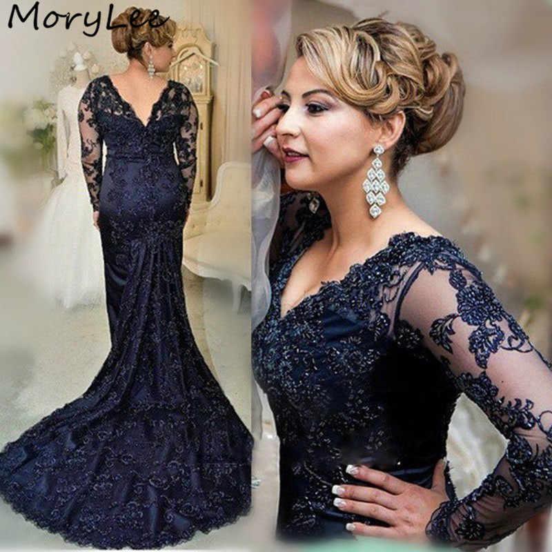 Платья для выпускного вечера с длинными рукавами и v-образным вырезом, украшенные аппликацией, украшенные кристаллами и жемчужинами, атласные платья для выпускного вечера с застежкой-молнией сзади