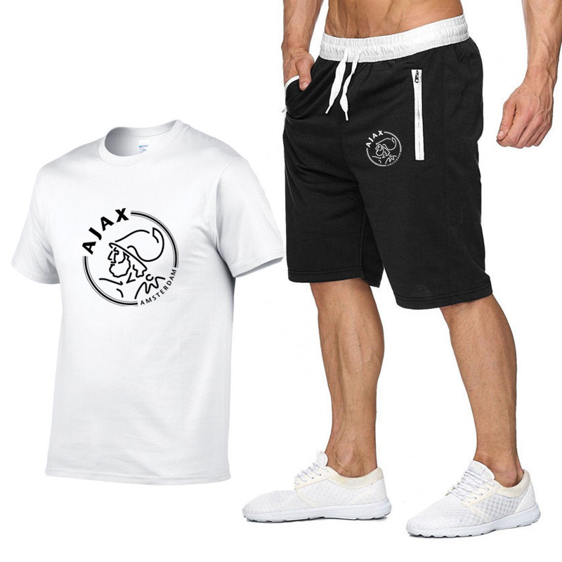 2020 Fashion T Shirts Funny Men T-shirts+Shorts Two Piece Short Sleeve T Shirts Luxury Summer Cotton Tee Shirts Hip Pop Top
