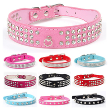 Puppy-Collars Rhinestone Pet-Supplies Dogs Necklace Adjustable Small for Medium Bling