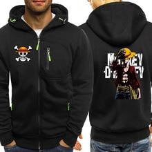 Luffy ONE PIECE Anime Series Hoodies Men Jacket 2019 Autumn Winter Casual Coat Harajuku Mens Hoodie Sweatshirts Hip Hop Hoody