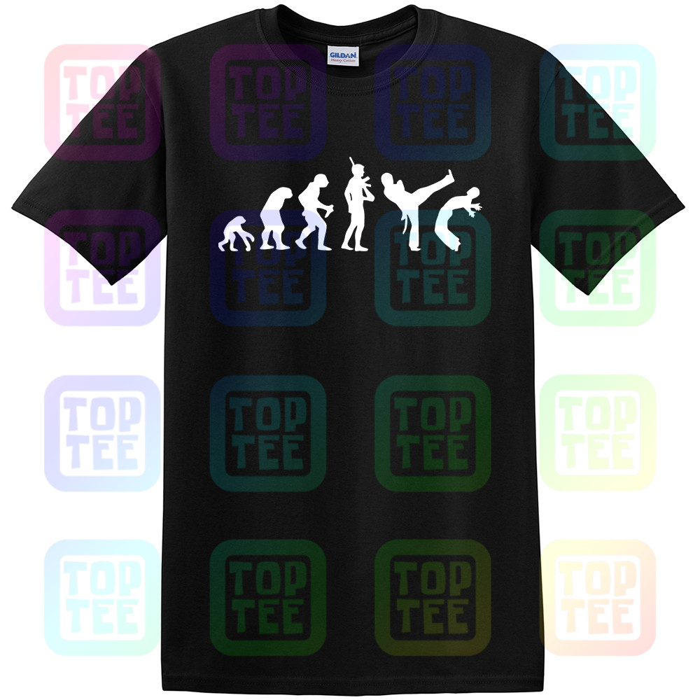 Evolution Of Capoeira T-shirt - Funny Brazilian Martial Art Tshirt Sizes S - XXXL