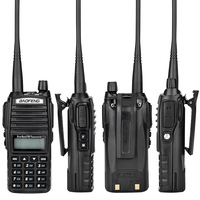 "baofeng uv Baofeng UV-82 מכשיר הקשר Dual-Band 136-174 / 400-520 MHz FM 5 וואט סוללה 2800mAh Ham Waterproof רדיו שני הדרך, מקמ""ש (3)"
