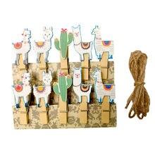10 шт/лот kawaii lucky cat деревянные зажимы мини фото бумага