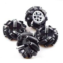 Moebius 60/80/96 мм высокая твердость Пластик Mecanum колеса всенаправленная Интеллектуальный автомобиль-робот поставляется с 6 мм концентраторы для Arduino DIY ствол игрушка