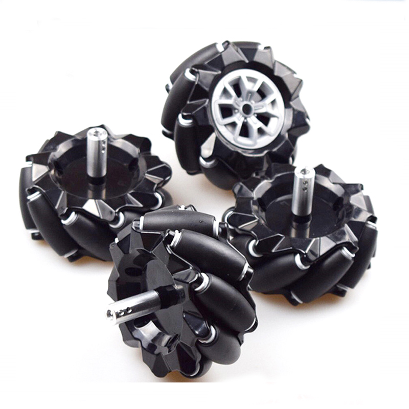 Moebius 60/80/96mm High Hardness Plastic Mecanum Wheel Omni-directional Smart Robot Car With 6mm Hubs For Arduino DIY STEM Toy