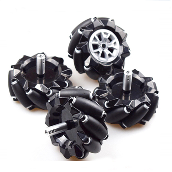 Moebius 60/80/96mm High Hardness Plastic Mecanum Wheel Omni-directional Smart Robot Car with 6mm hubs for Arduino DIY STEM Toy 50mm double roller layers plastic omini track bearing conveyor transfer line robot omni directional skate wheel