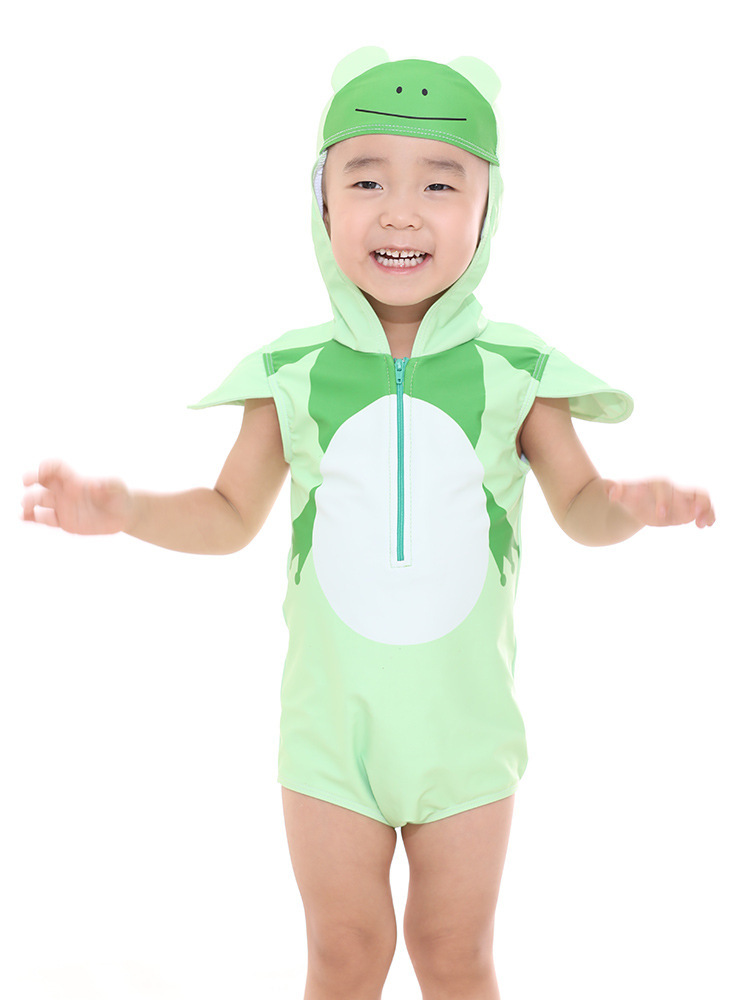 KID'S Swimwear 2019 New Style Men And Women Children Cute Cartoon Long Sleeve Sun-resistant Split Type Boxers Tour Bathing Suit