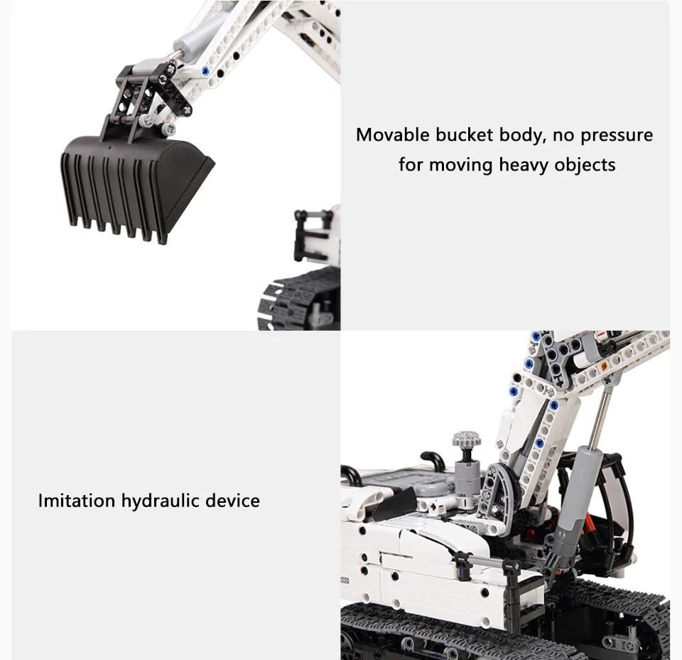Xiaomi MITU Engineering Excavator Building Blocks Toy Kids Gift Crawler Simulation console Mechanical transmission 900+ parts (3)
