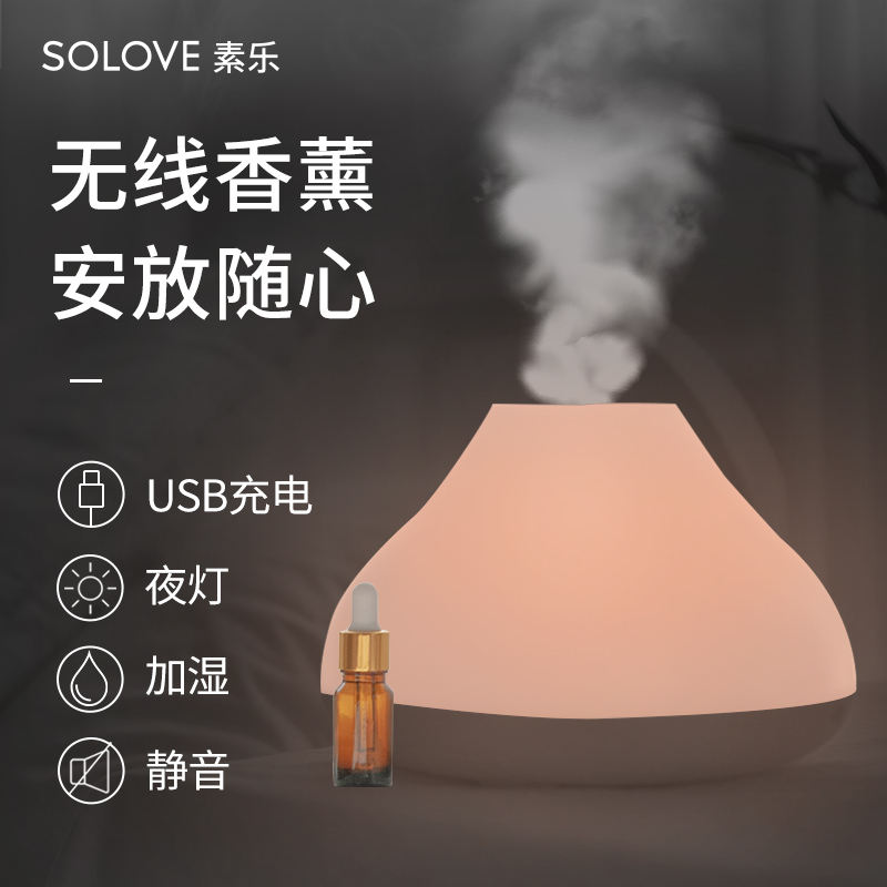 Electric Incense Burner Mute Night Light White Ultrasonic Air Humidifier Aroma Essential Incenso Bedroom Home Aromalamp MM60XXL