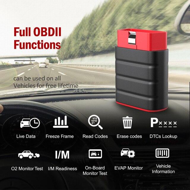 Ra Mắt Thinkdriver Obd2 Máy Quét Bluetooth Chuyên Nghiệp Đầy Đủ Hệ Thống 15 Đặt Lại Chức Năng OBD 2 Ô Tô Máy Quét PK AP200