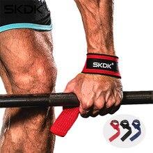 SKDK 1 пару тяжелой с ручным ремнем анти-скольжения Спорт Фитнес обхватывает запястье Ремни Тренажерный Зал Поддержка груз для ремень Фитнес ...
