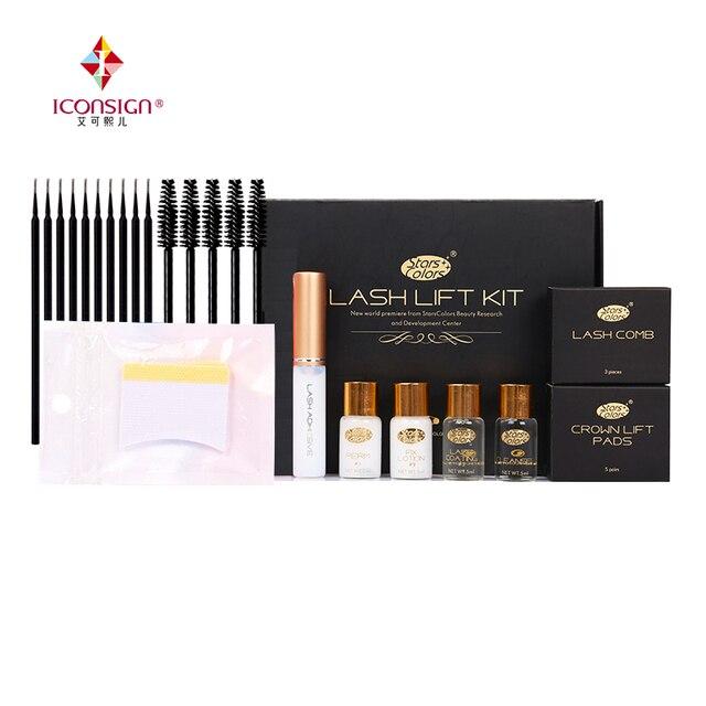 Drop shipping Fast Perm Mini Eyelash Kit Lashes lift Cilia Make Up Perming Lifting Growth Treatments Brushes Pads Beauty Tools