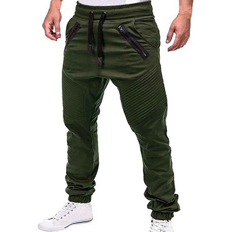 2019 Men Pants Hip Hop Harem Joggers Pants Casual Male Trousers Mens Joggers Solid Multi-pocket Pants Sweatpants M-4XL