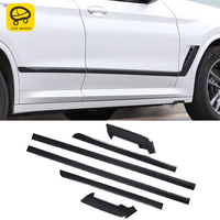 CarManGo Car Accessories Door Side Chrome Pad Cover Sticker Trim Protector Exterior Decoration For BMW X3 G01 X4 G02 2018 2020