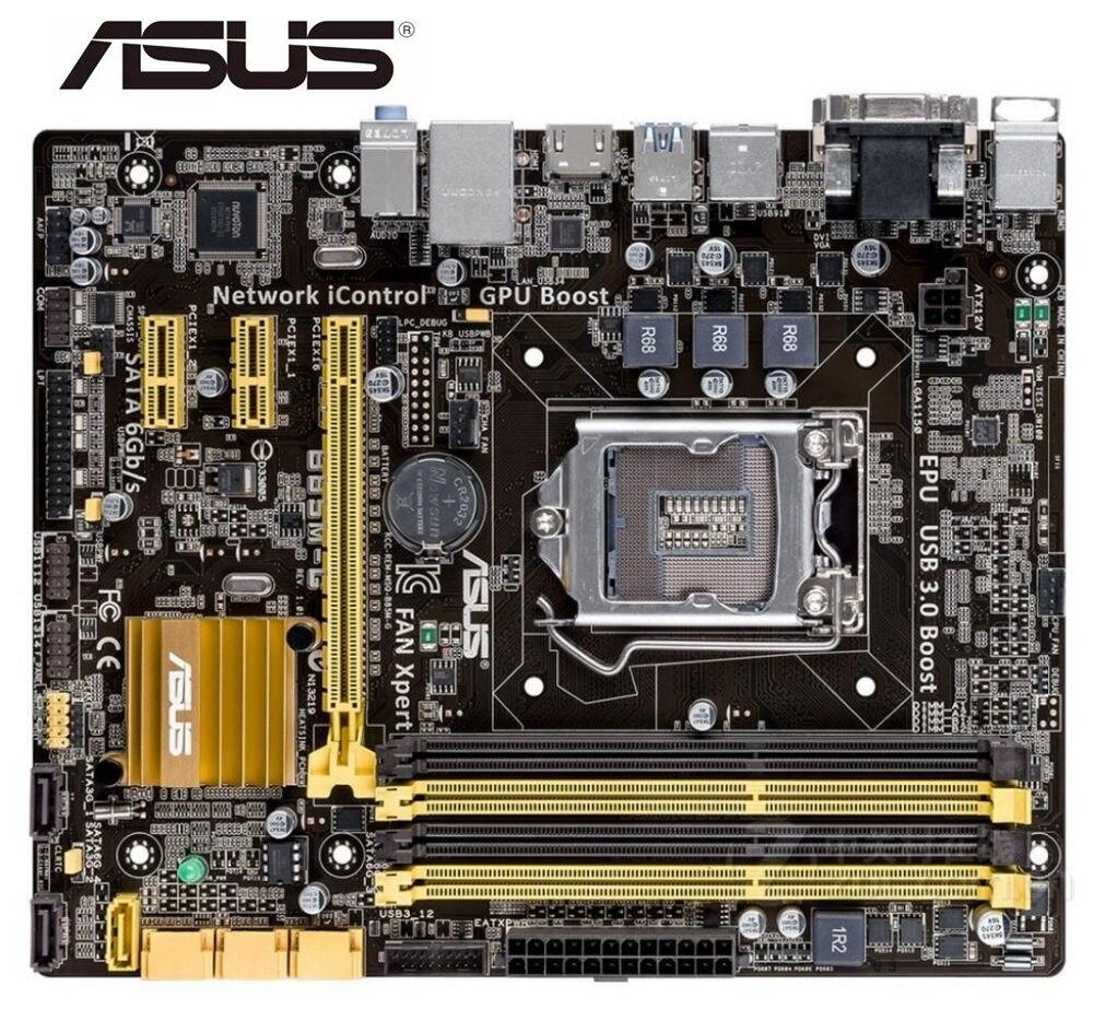 ASUS original bureau utilisé carte mère B85M-G DDR3 LGA 1150 USB2.0 USB3.0 32GB B85 carte mère à semi-conducteurs intégré PC