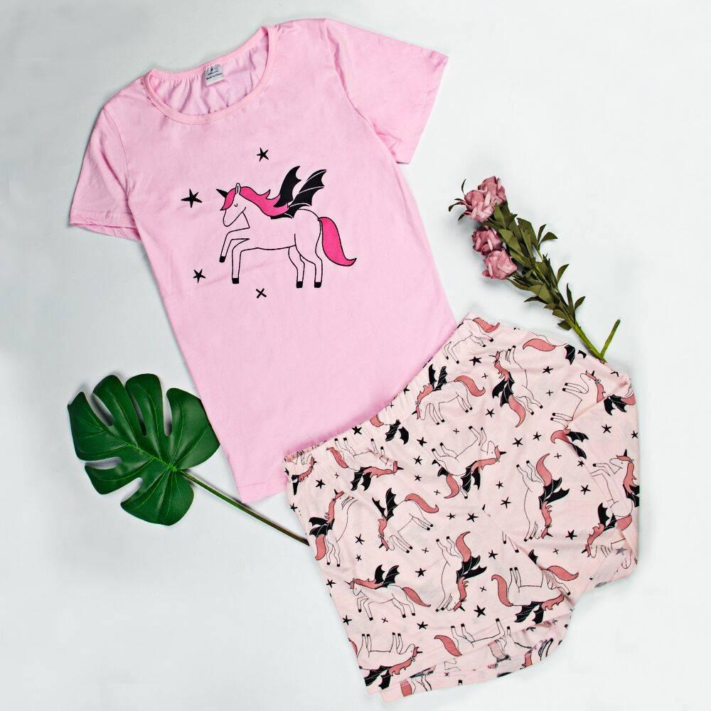 Women Cotton Cute Sleepwear Pajamas For Women Womens Short Sleeve Pajamas Sleepwear Cartoon Pajama Set Cotton Pyjamas