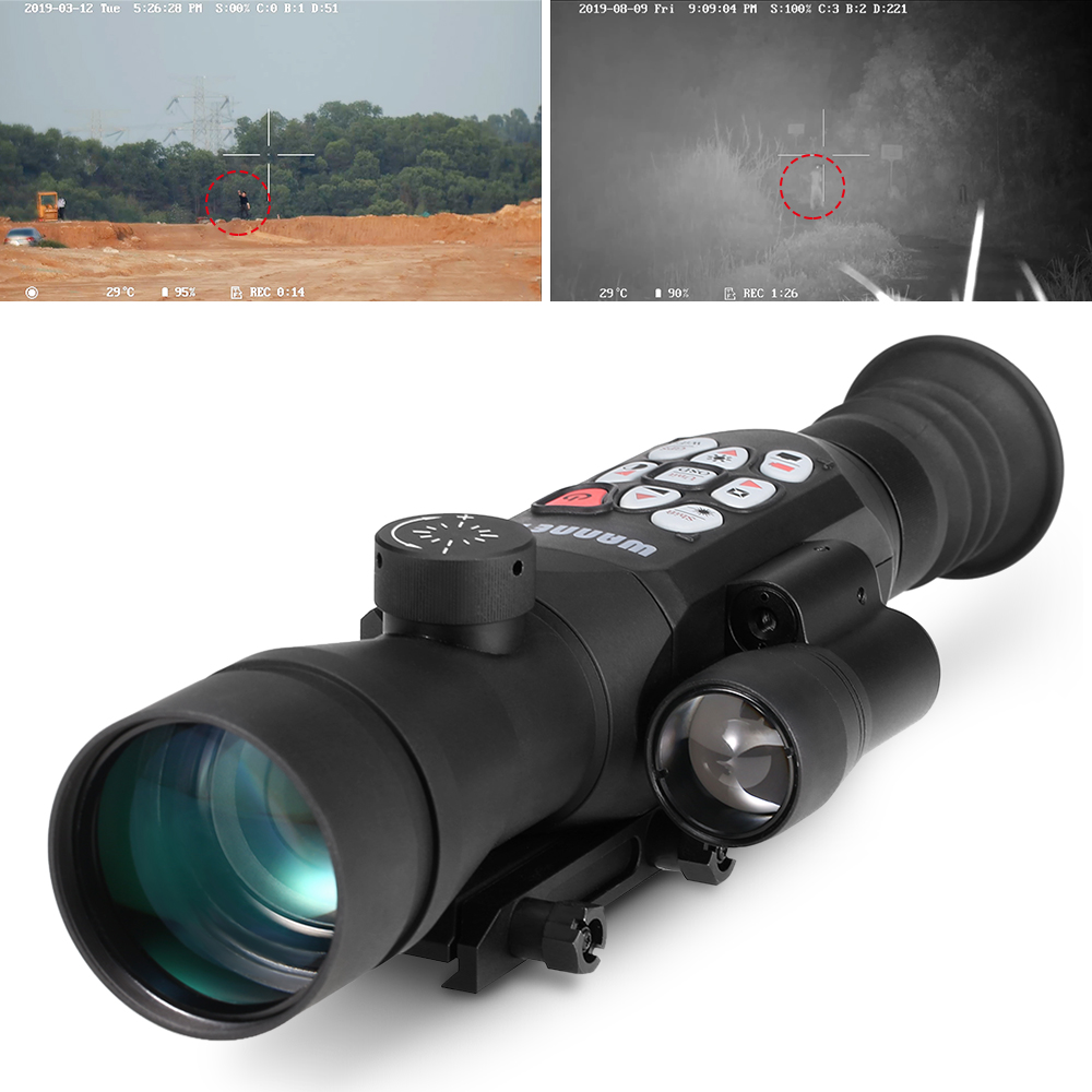 Hunting Night Vision Set Sight Digital Ir Monocular Scope Laser Rangefinder For Hunting Full Color Infrared Vision Telescope
