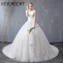 Wedding Dress 2019 New Thin Word Shoulder Bride Wedding Dress Luxury Long Tail In The Waist Bandeau Strap Wedding Dress kimberly cates the wedding dress