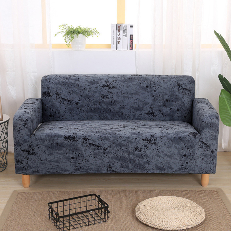 Wrinkle Free Couch Cover with Elastic and Straps for Sofa in Living Room Made of High Quality Spandex Material 9