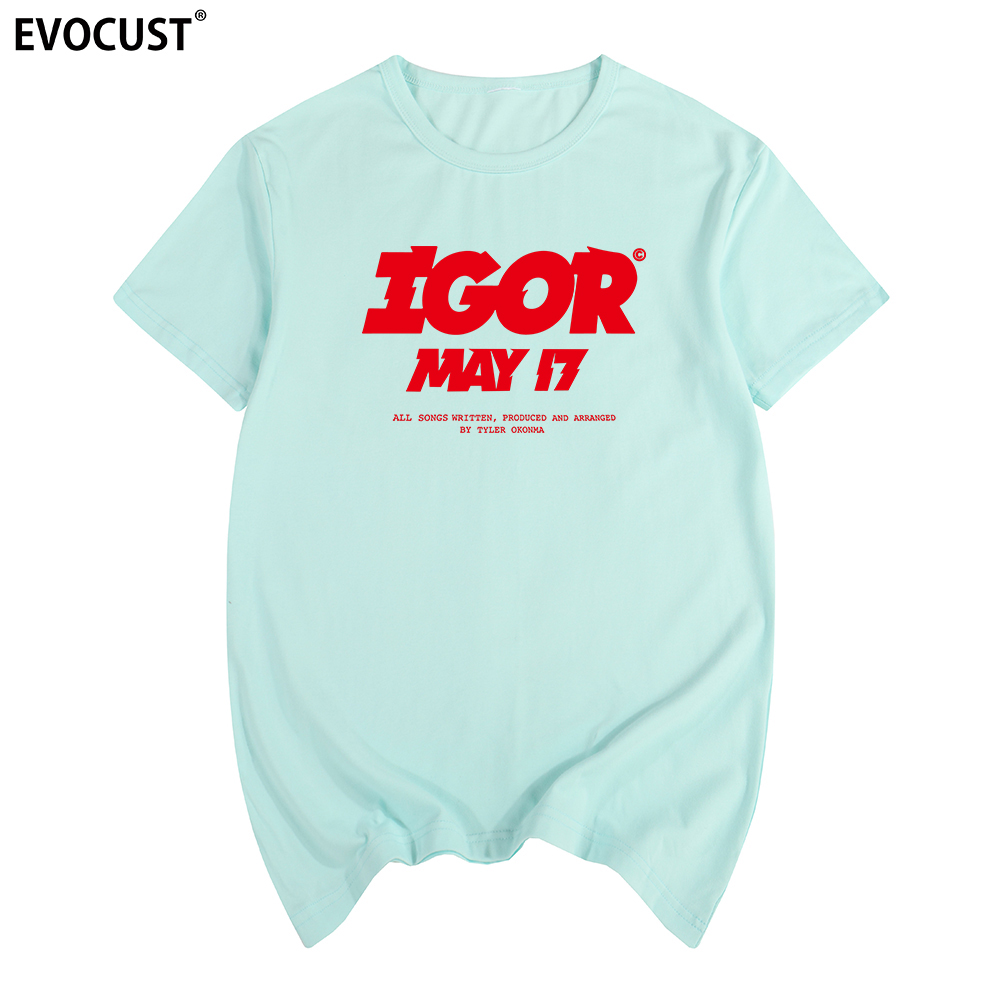 Vote Igor May Golf Wang Cherry Bomb Flower Skate Hip Hop Tyler The Creator T-shirt Cotton Men T Shirt New TEE TSHIRT Womens