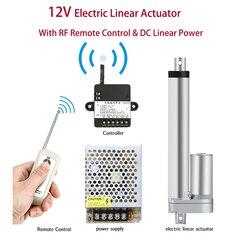 Электрический линейный привод 12 В + Радиочастотный пульт дистанционного управления + линейный источник питания постоянного тока для открыт...