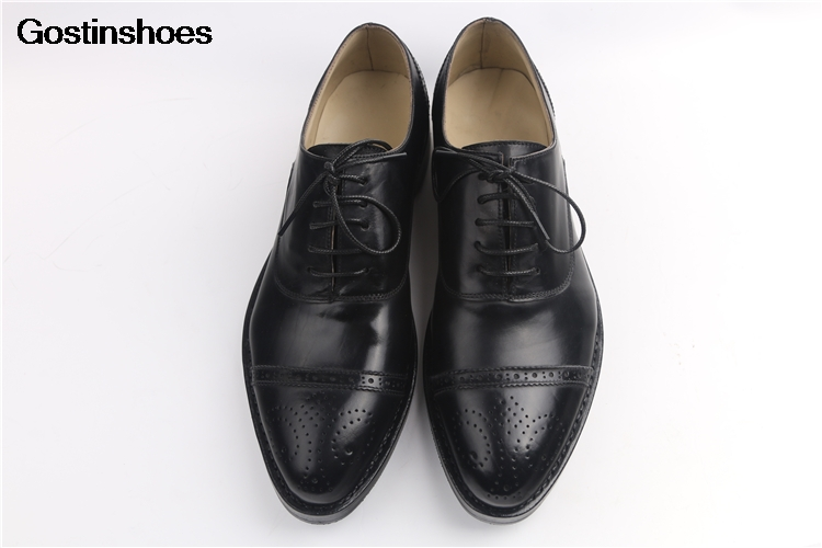 Retro Carved Leather Men Shoes Sapatos Masculinos High-end Handmade Customize Business Formal Wear Fetal Bovine Calf Leather