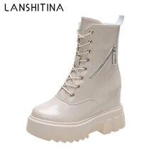 Женские массивные ботинки 2020 осенние кожаные женские кроссовки