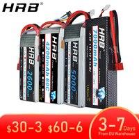 HRB 2S 3S 5S 4S 6S batería de Lipo de 3000mah 4000mah 5000mah 6000mah 7,4 V 11,1 V 14,8 V 18,5 V 22,2 V XT60 decanos EC5 FPV aviones