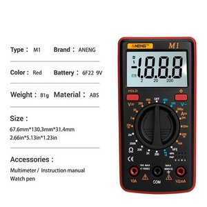 Image 5 - M1 Multimeter Portable LCD Digital Multimeter Backlight AC/DC Ammeter Voltmeter Ohm Tester Meter Handheld Multimeter Tester