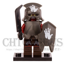 The Lord of the Rings Hobbit Mordor ORC Mouth of Sauron Witch-King Minifig POGO DIY Model Building Blocks Kids Toys Gifts(China)