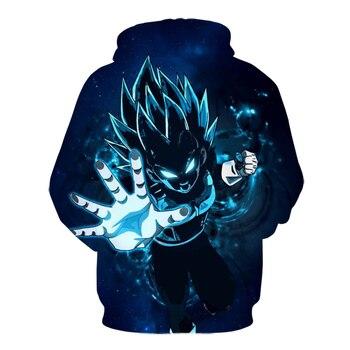 Jumeast New Arrival Dragon Ball Super 3d Print Fashion Anime Women/Men  hoodie Long Sleeved Super Saiyan Outerwear 2